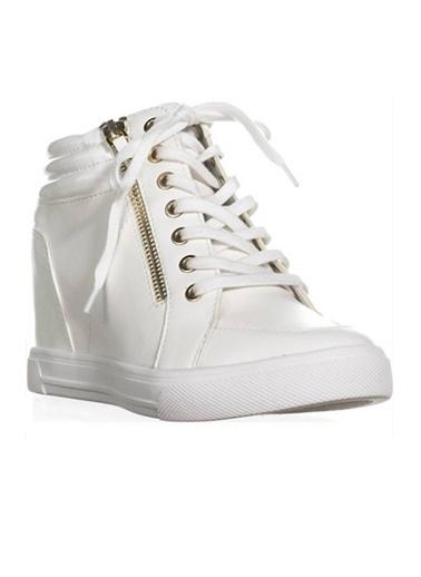 Dolgu Topuklu Bağcıklı Ayakkabı-Aldo